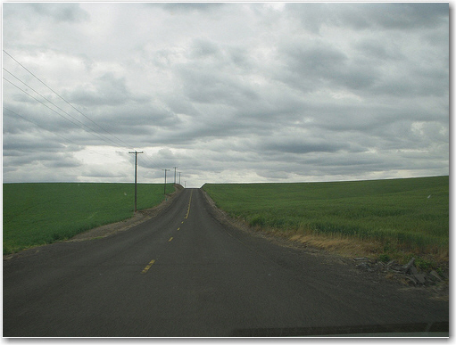 Road near Helix, OR.